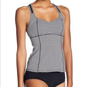 Nike Active Striped Swimwear Racerback Tan…
